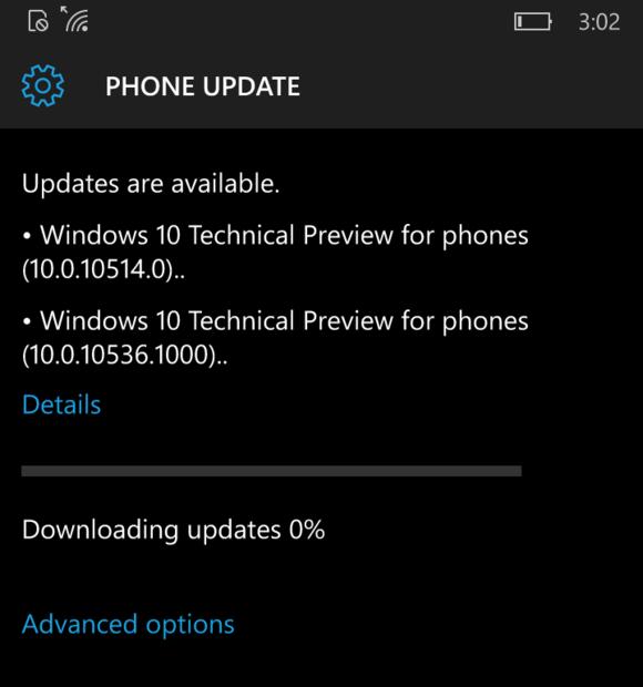 windows mobile 10536 installation