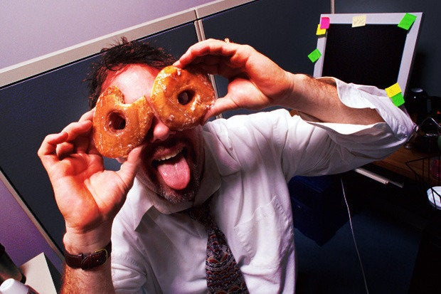 workplace distractions donuts crazy