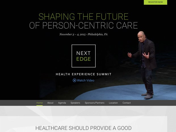 Next Edge Health Experience Summit website