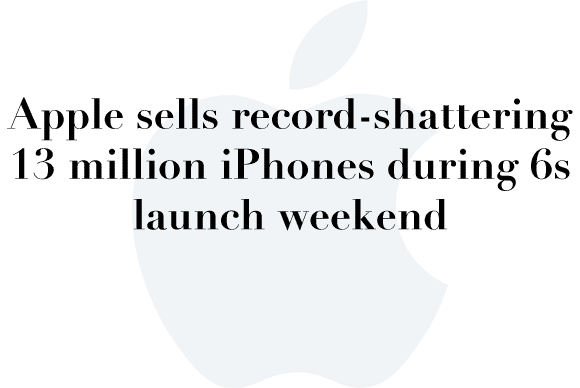 13 million iphones