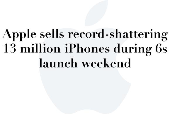13 million iphones