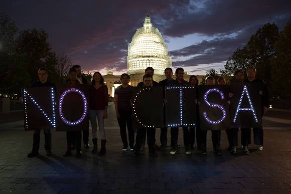 FFTF CISA protest outside Congress