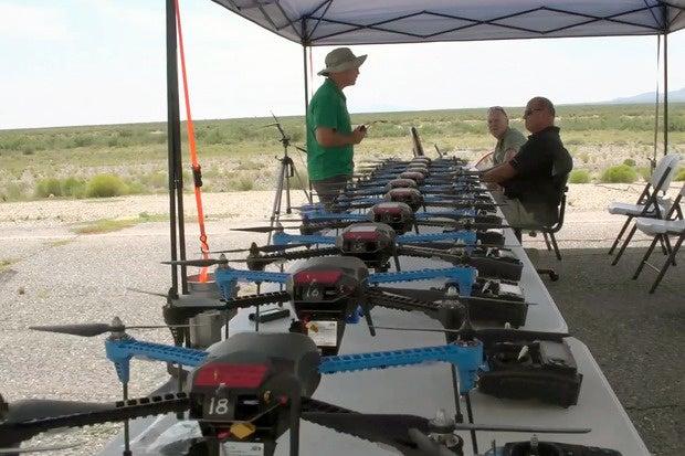 NIE drone swarm