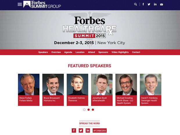 Forbes Healthcare Summit 2015