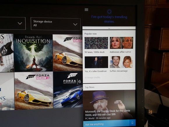 new xbox experience Cortana