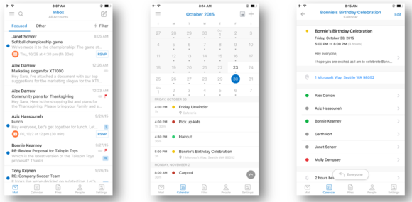 Outlook for iOS redesign