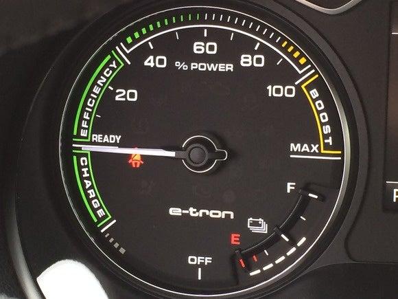 2016 audi sportback e tron battery fuel dial