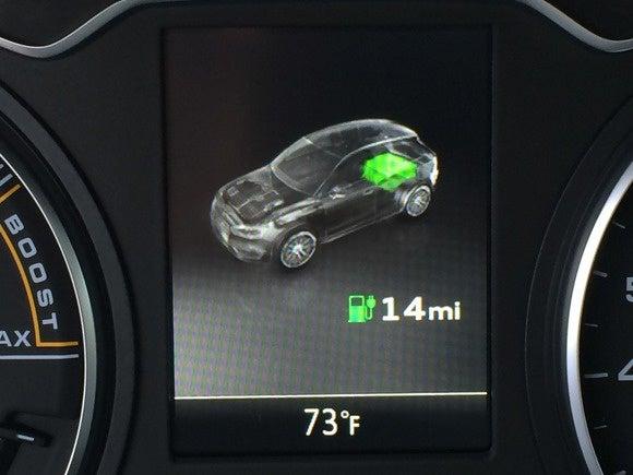 2016 audi sportback e tron battery indicator