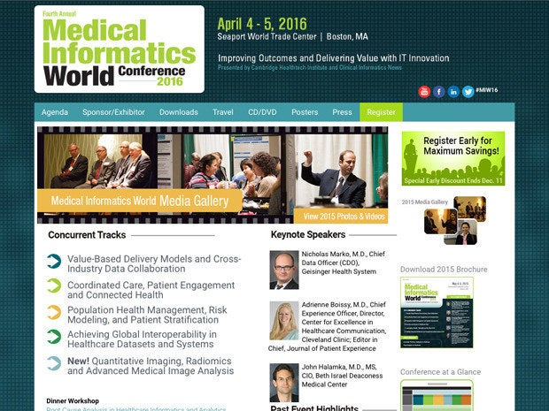 Medical Informatics World Conference 2016