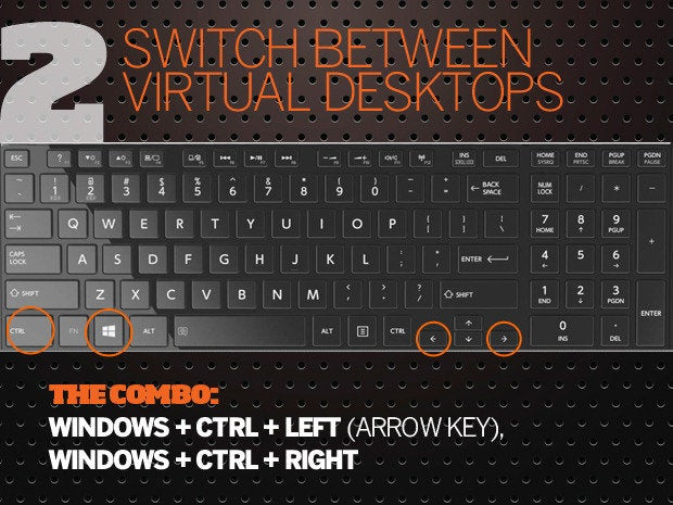 10 Windows 10 keyboard shortcuts - 2 - switch virtual desktops