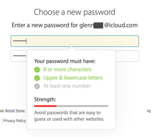 2fa choose a new password