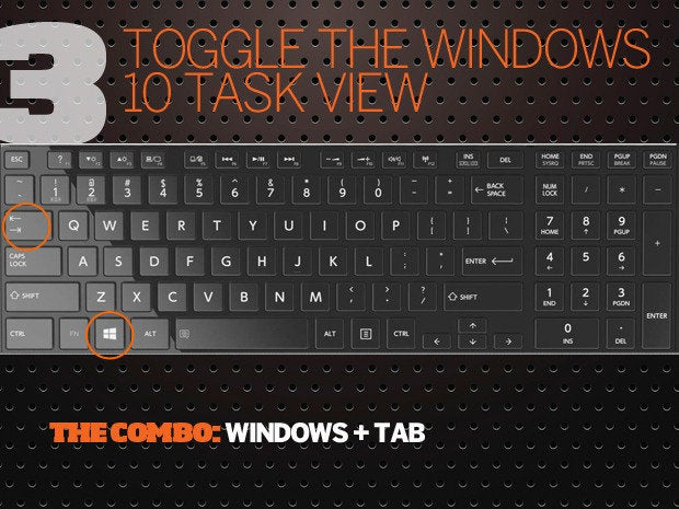 10 Windows 10 keyboard shortcuts - 3 - toggle task view