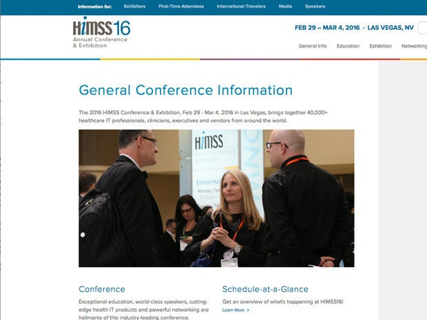 HiMSS 16 conference