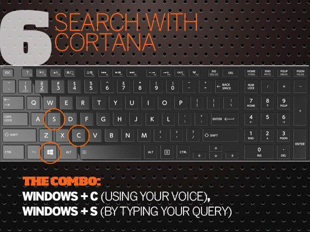 10 Windows 10 keyboard shortcuts - 6 - search with cortana