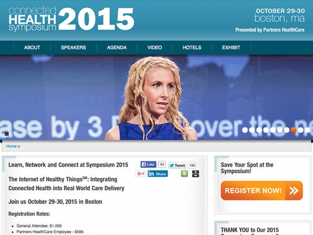 Connected Health Symposium website