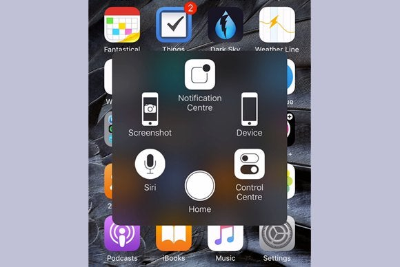 add quick shortcuts and an on screen home button