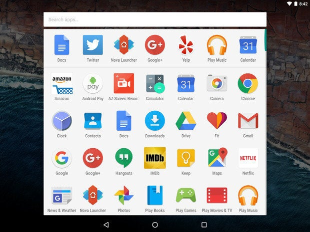 Android 6.0 Marshmallow: App Drawer