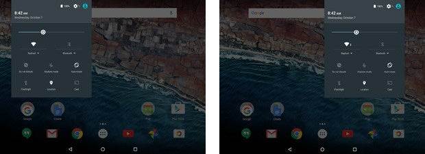 Android 6.0 Marshmallow: Tablet Notification