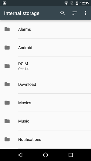 How to get to Android Marshmallow's hidden file manager