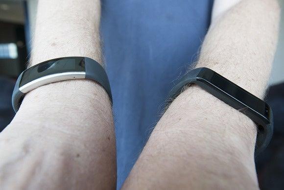 Microsoft Band 2 and Band 1