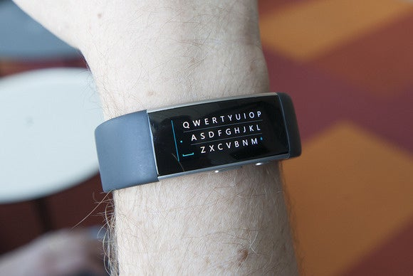 Microsoft Band 2 keyboard