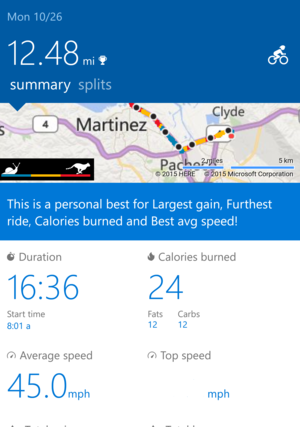 Microsoft Band 2 Bike app edited