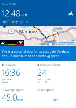 Microsoft Band 2 Bike app edited