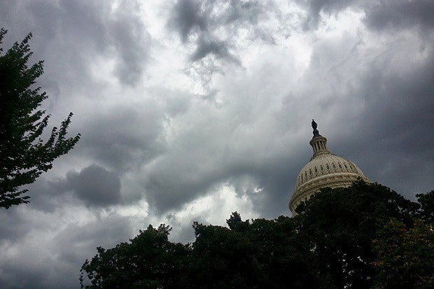 capitol building clouds