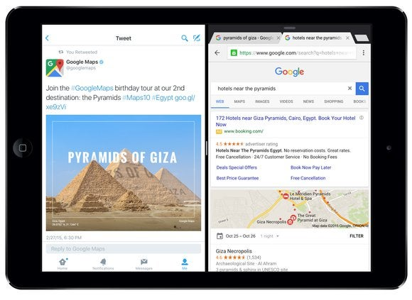 Chrome for iOS adds iOS 9\'s Split View multitasking | Macworld
