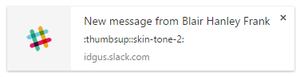 chrome notification