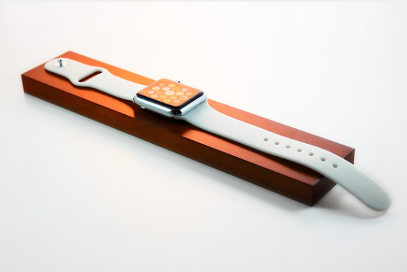 dark maple apple watch dock