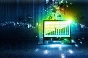 data analytics chart money finance laptop computer