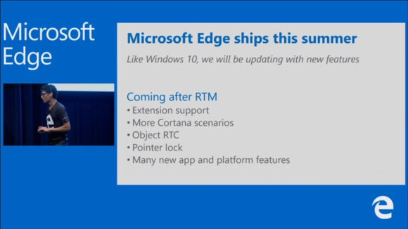Microsoft Edge browser extensions delayed Windows 10