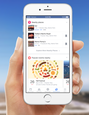 facebook mobile notifications places nearby