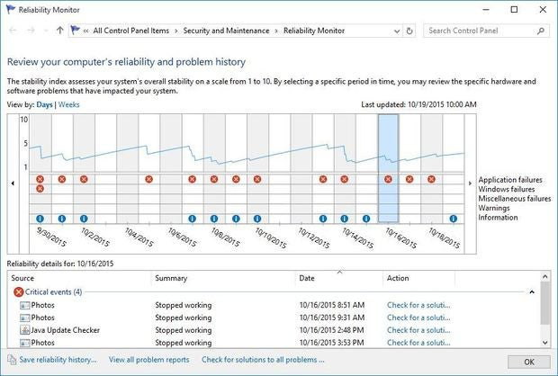 windows 10 reliability monitor - figure 3