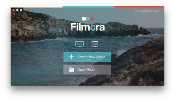 filmora video editor launch screen