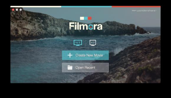 filmora video editor launch screen