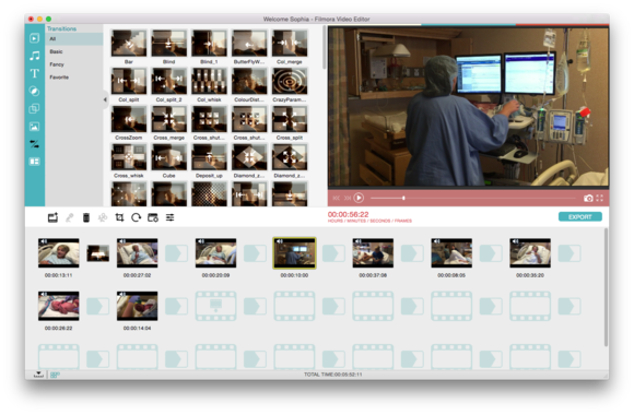 filmora video editor storyboard view