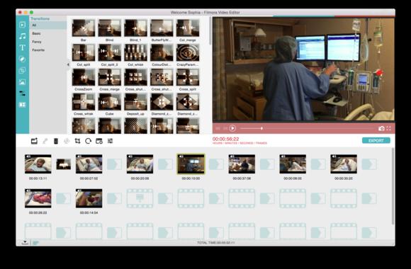 filmora video editor storyboard view