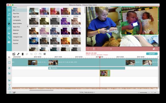 filmora video editor timeline view