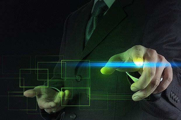 futuristic businessman