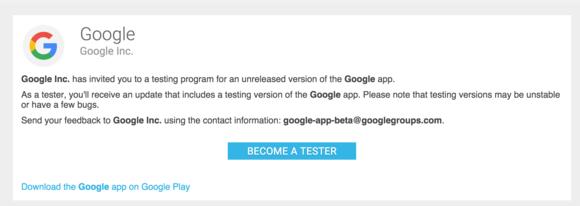 google beta app