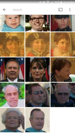 google photos weird faces