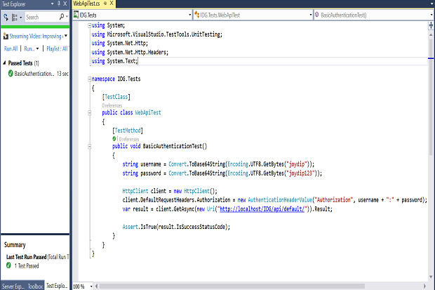 Implement HTTP authentication in Web API