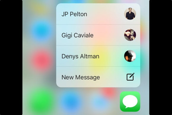 iphone 6s messages quick actions