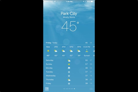 iphone 6s peek into weather app