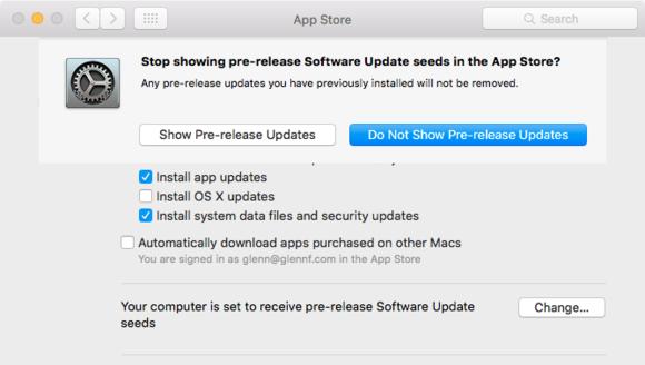 mac911 app store pref optout