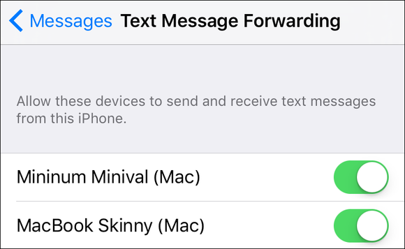 mac911 forward sms settings ios