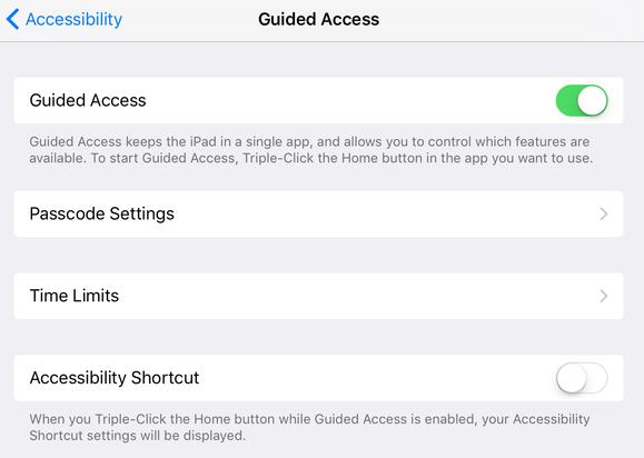 mac911 guided access setting