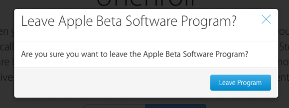 mac911 leave ios beta program